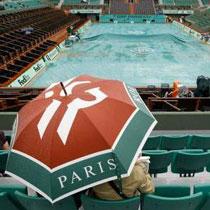 Дождь срывает «Ролан Гаррос», но Катю Бондаренко успели вынести