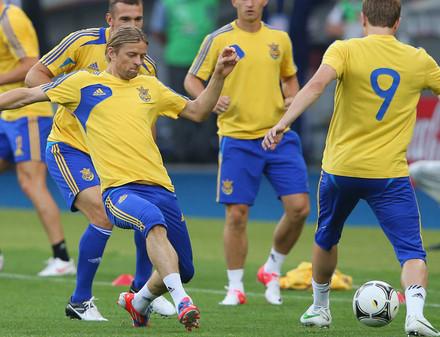 Евро-2012: Сборная Украины переиграла сборную  Швеции