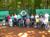 Харьковские депутаты сыграли в теннис со спортсменами-колясочниками (ФОТО)