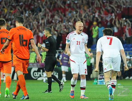 Первый матч Евро-2012 в Харькове: Дания обыграла Нидерланды