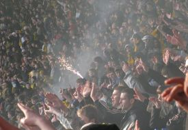 Папу Гуйе носили на руках после матча с Таврией
