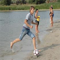 «Шахтер» - «Металлист». Пляжный футбол между болельщиками