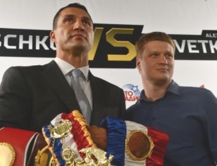Кличко и Поветкин встретились лицом к лицу (ВИДЕО)
