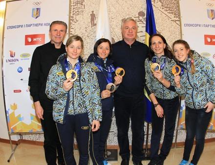 Украинские олимпийцы вернулись домой (ФОТО)
