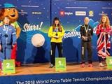 Марина Литовченко победила на чемпионате мира по паралимпийскому настольному теннису