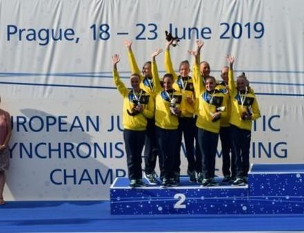 Юные синхронистки с медалями вернулись с чемпионата Европы